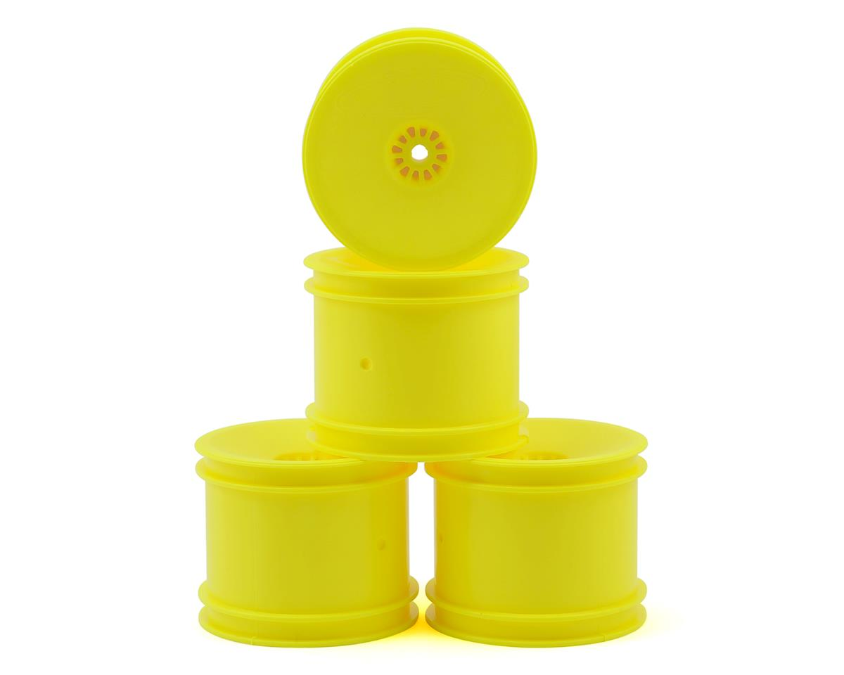 "DE Racing 12mm Hex ""Speedline"" 2.2"" 1/10 Stadium Truck Wheel (4) (22T) (Yellow)"
