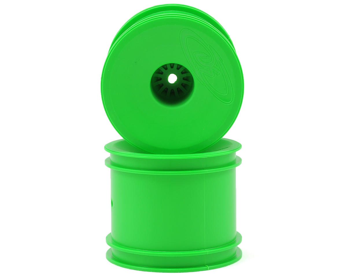 "DE Racing 12mm Hex ""Speedline"" 2.2"" 1/10 Stadium Truck Wheel (2) (T4.2) (Green)"