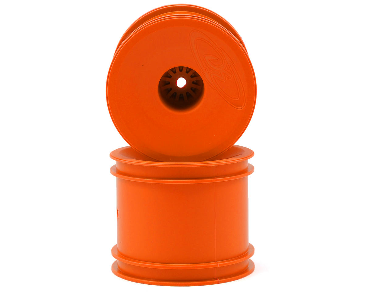 "DE Racing 12mm Hex ""Speedline"" 2.2"" 1/10 Stadium Truck Wheel (2) (T4.2) (Orange)"