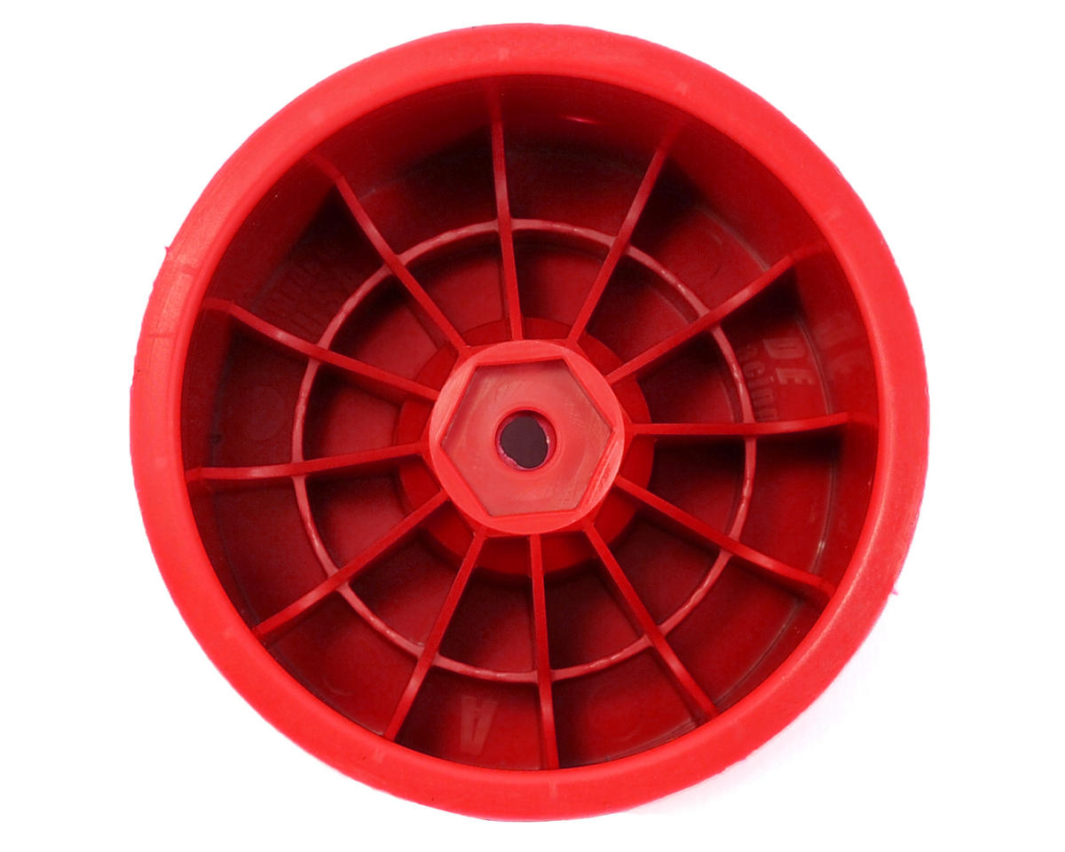 """DE Racing 12mm Hex """"Speedline"""" 2.2"""" 1/10 Stadium Truck Wheel (2) (T4.2) (Red)"""