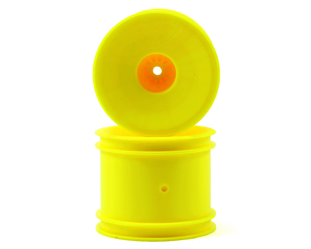 "DE Racing 12mm Hex ""Speedline"" 2.2"" 1/10 Stadium Truck Wheel (2) (T4.2) (Yellow)"