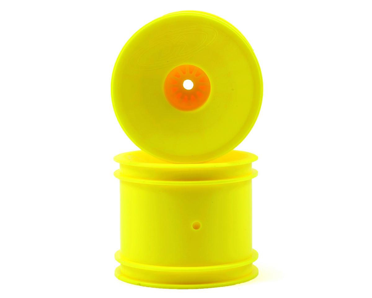 """DE Racing 12mm Hex """"Speedline"""" 2.2"""" 1/10 Stadium Truck Wheel (2) (T4.2) (Yellow)"""