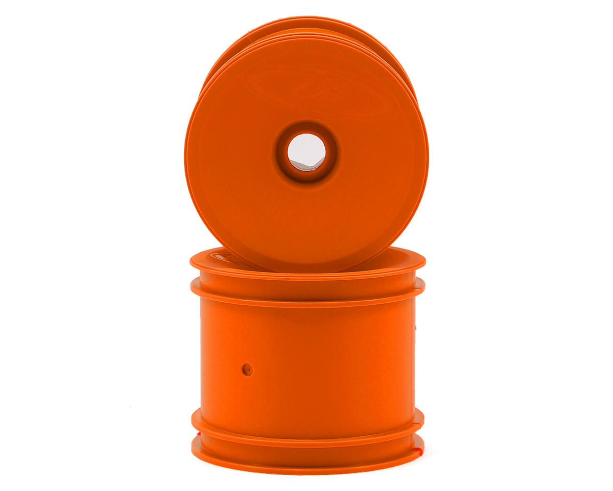 Speedline 2.2 1/10 Stadium Truck Wheel (2) (RT6/RT5) (Orange) by DE Racing