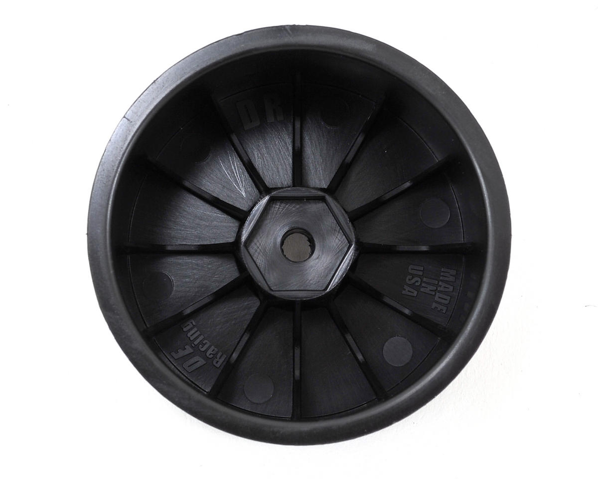 "DE Racing 12mm Hex ""Speedline"" 2.2"" 1/10 Stadium Truck Wheel (2) (22T) (Black)"