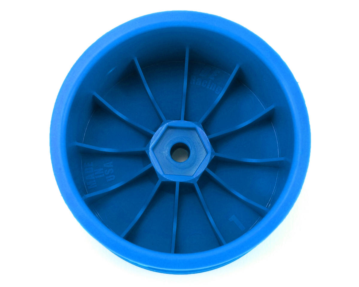 "DE Racing 12mm Hex ""Speedline"" 2.2"" 1/10 Stadium Truck Wheel (2) (22T) (Blue)"