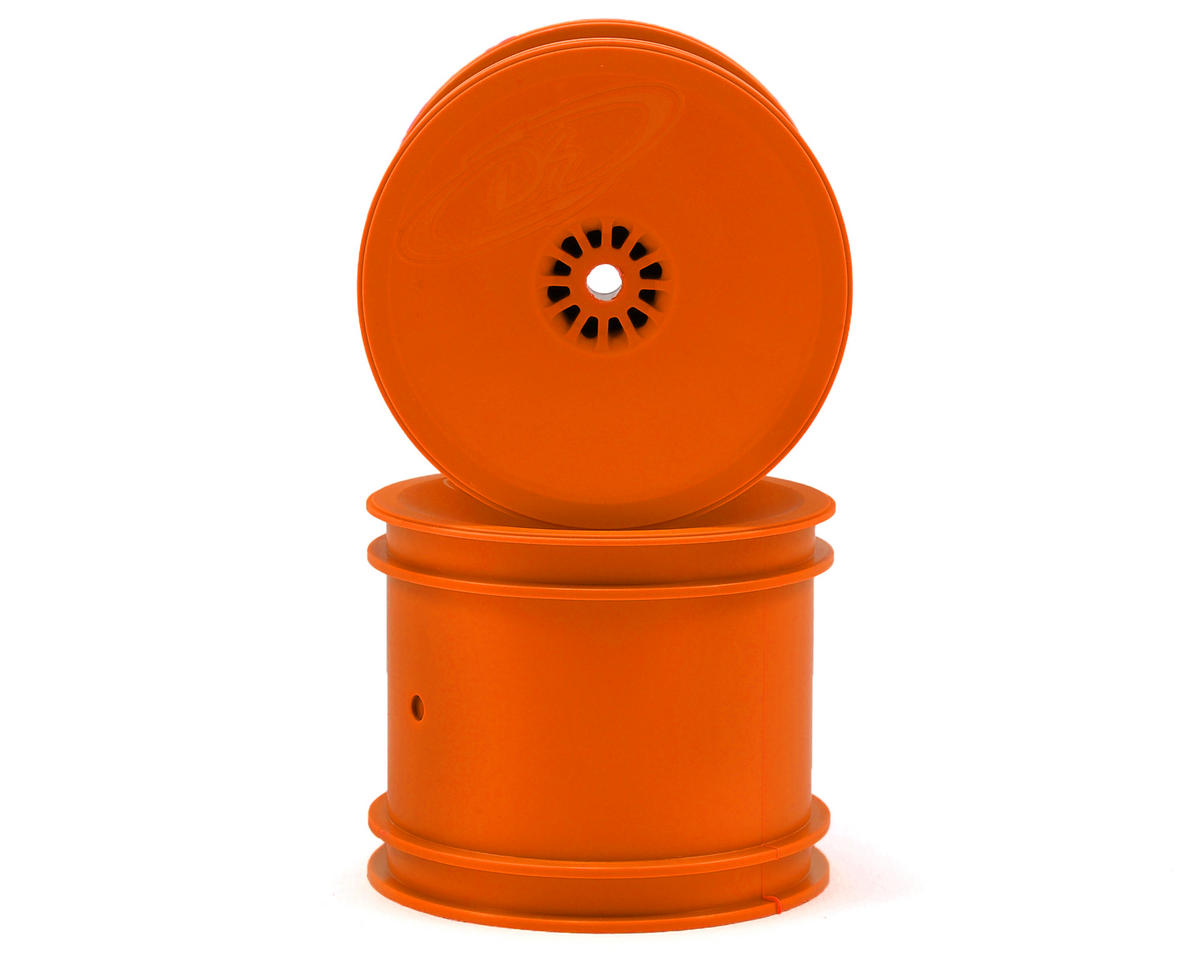 "12mm Hex ""Speedline"" 2.2"" 1/10 Stadium Truck Wheel (2) (22T) (Orange) by DE Racing"