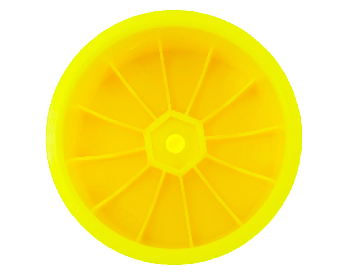 "DE Racing 12mm Hex ""Speedline"" 2.2"" 1/10 Stadium Truck Wheel (2) (22T) (Yellow)"