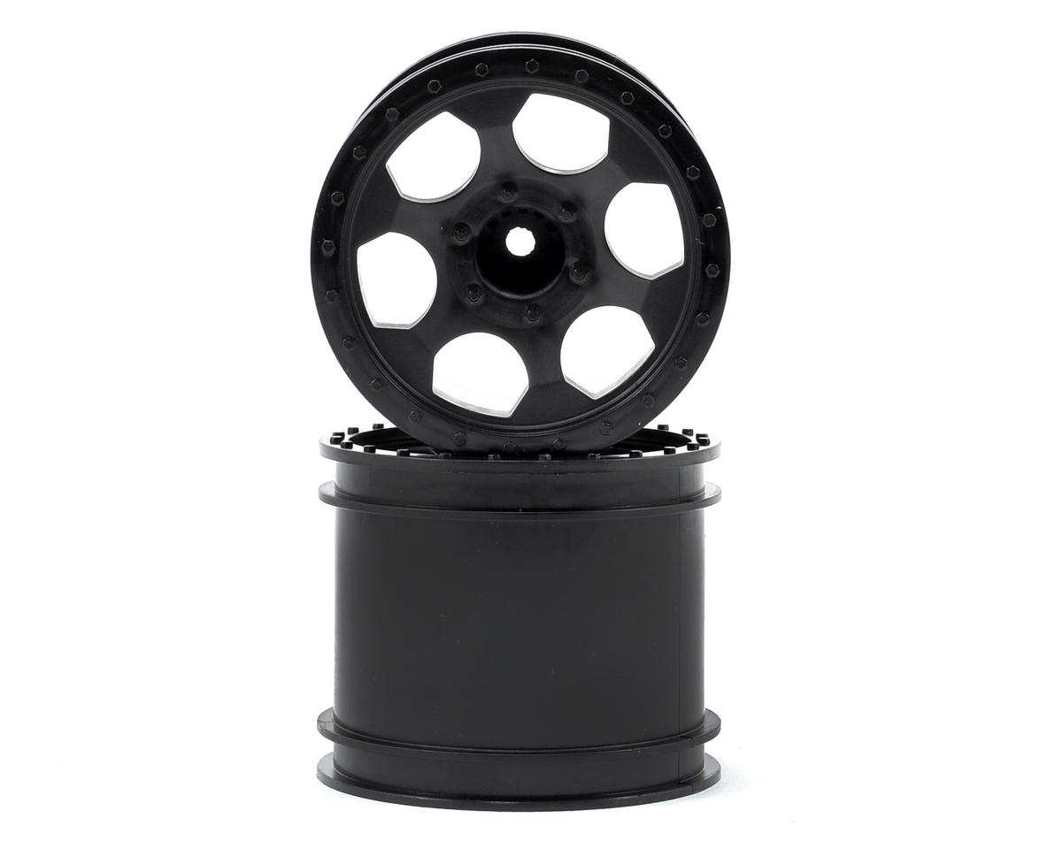 "DE Racing ""Trinidad"" 2.2"" 1/10 Stadium Truck Hex Wheel (2) (T4) (Black)"