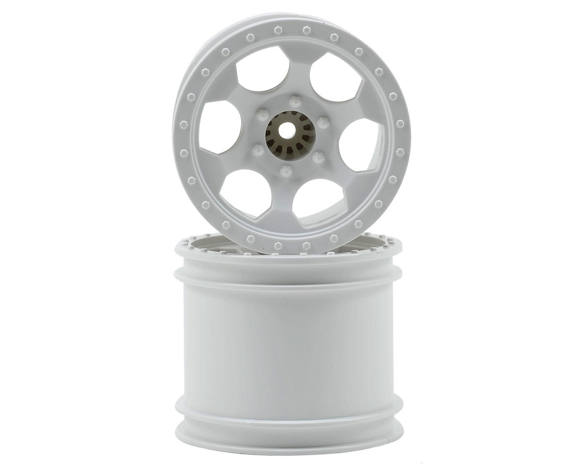 "12mm Hex ""Trinidad"" 2.2"" 1/10 Stadium Truck Wheel (2) (T4) (White) by DE Racing"