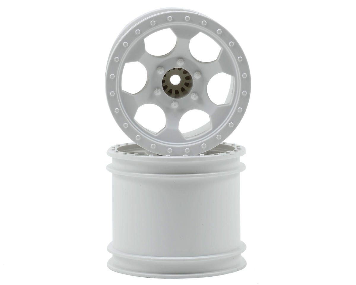"DE Racing 12mm Hex ""Trinidad"" 2.2"" 1/10 Stadium Truck Wheel (2) (T4) (White)"