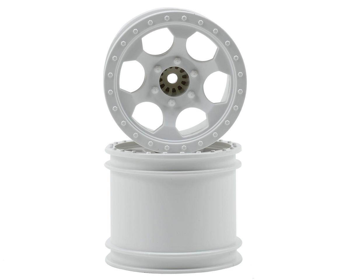 "DE Racing 12mm Hex ""Trinidad"" 2.2"" 1/10 Stadium Truck Wheel (2) (T4) (White)"