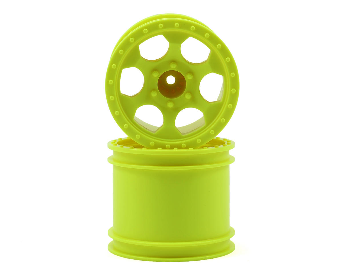 "DE Racing ""Trinidad"" 2.2"" 1/10 Stadium Truck Hex Wheel (2) (T4) (Yellow)"