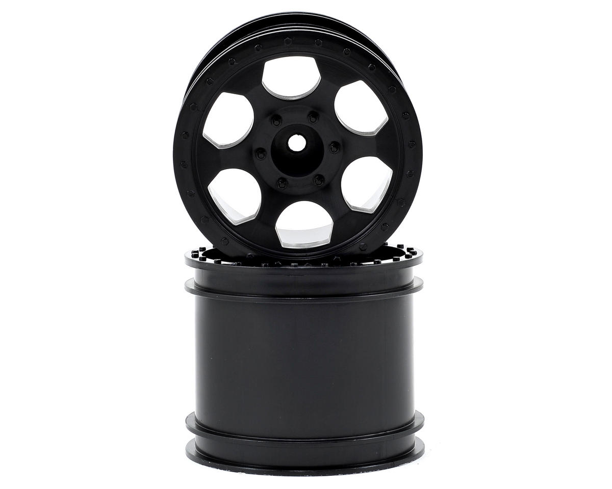 DE Racing Trinidad 2.2 1/10 Stadium Truck Wheel (2) (DEST210R) (Black)