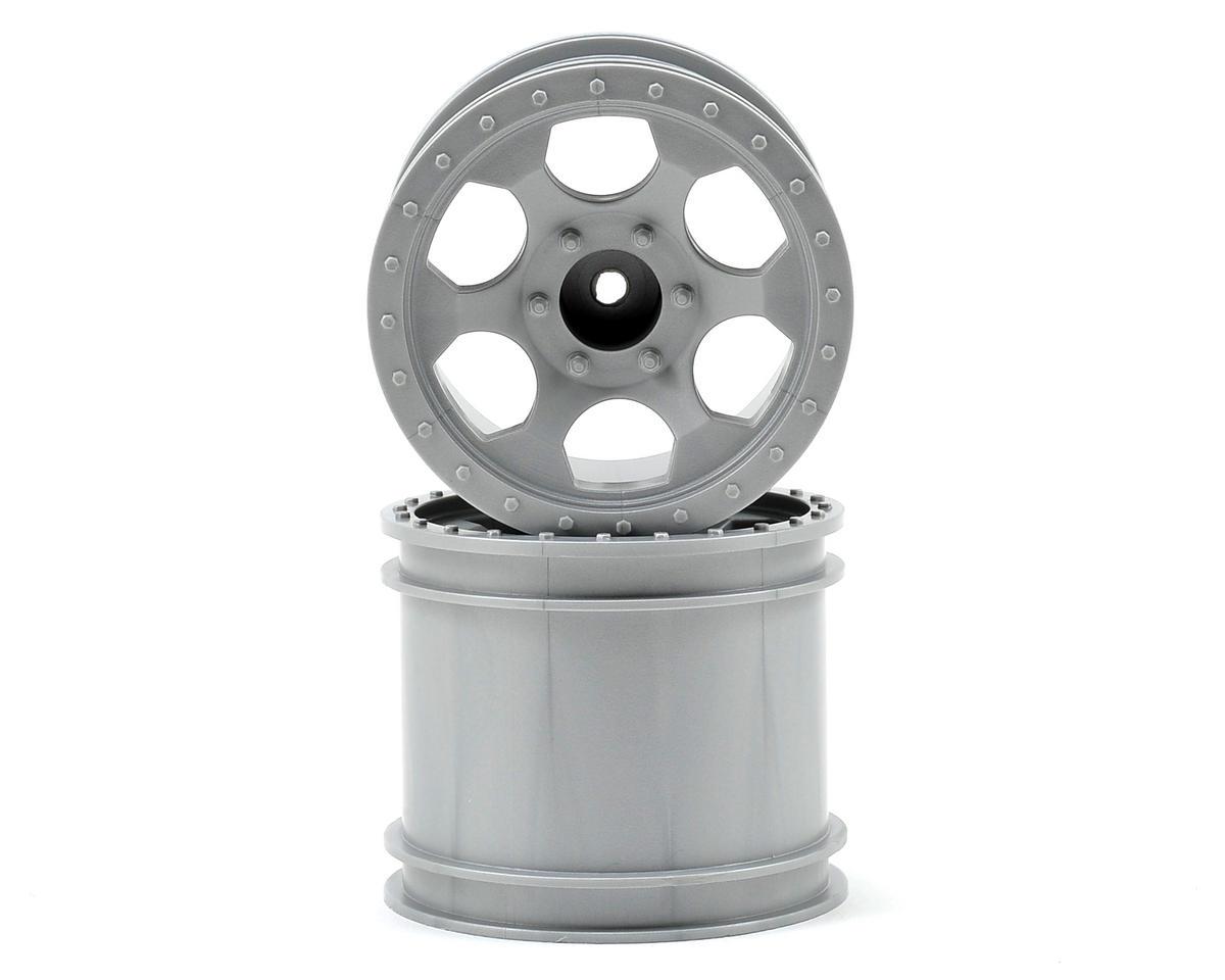 DE Racing Trinidad 2.2 1/10 Stadium Truck Wheel (2) (DEST210R) (Silver)