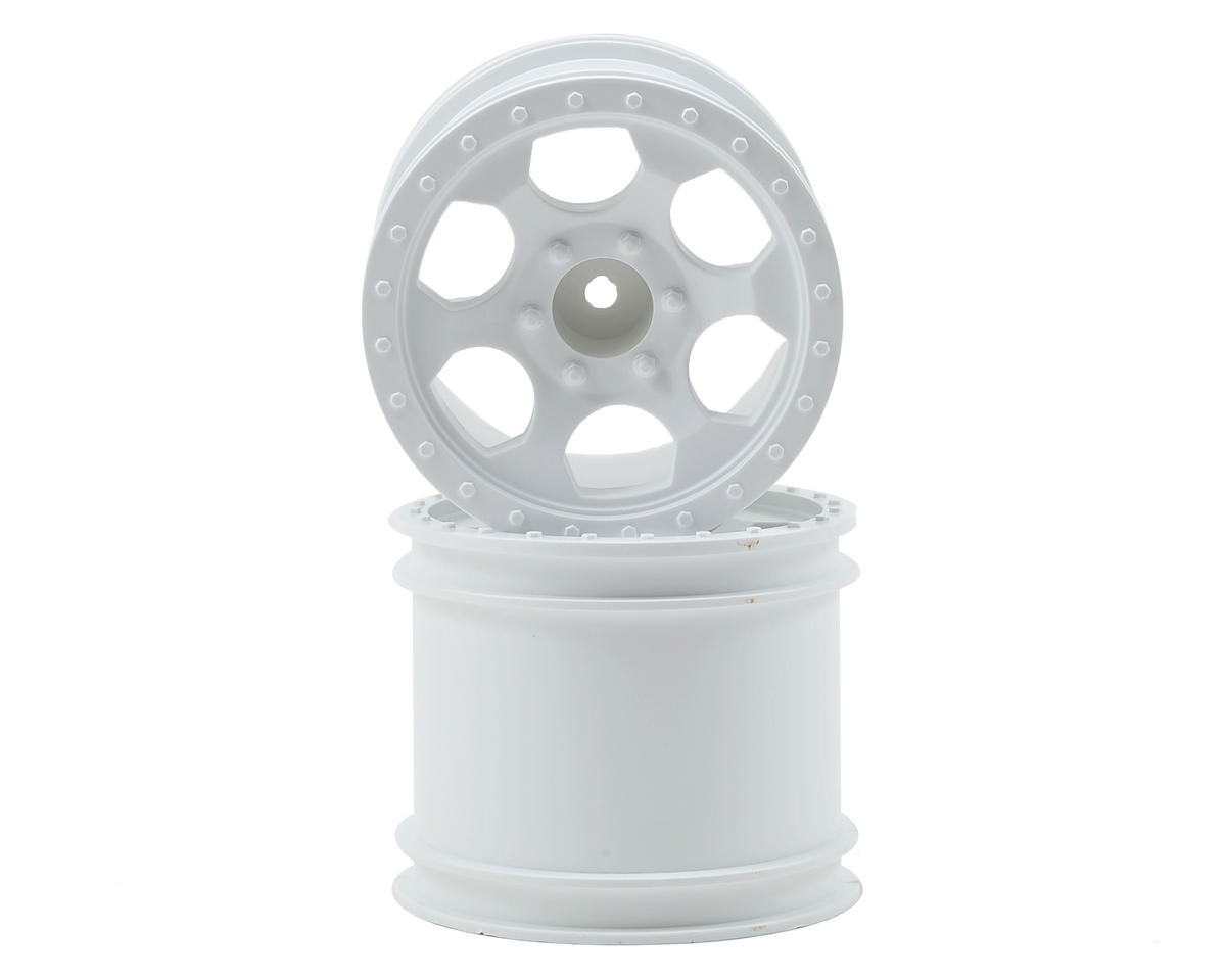 DE Racing Trinidad 2.2 1/10 Stadium Truck Wheel (2) (DEST210R) (White)