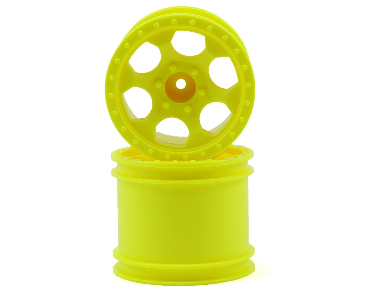DE Racing Trinidad 2.2 1/10 Stadium Truck Wheel (2) (DEST210R) (Yellow)
