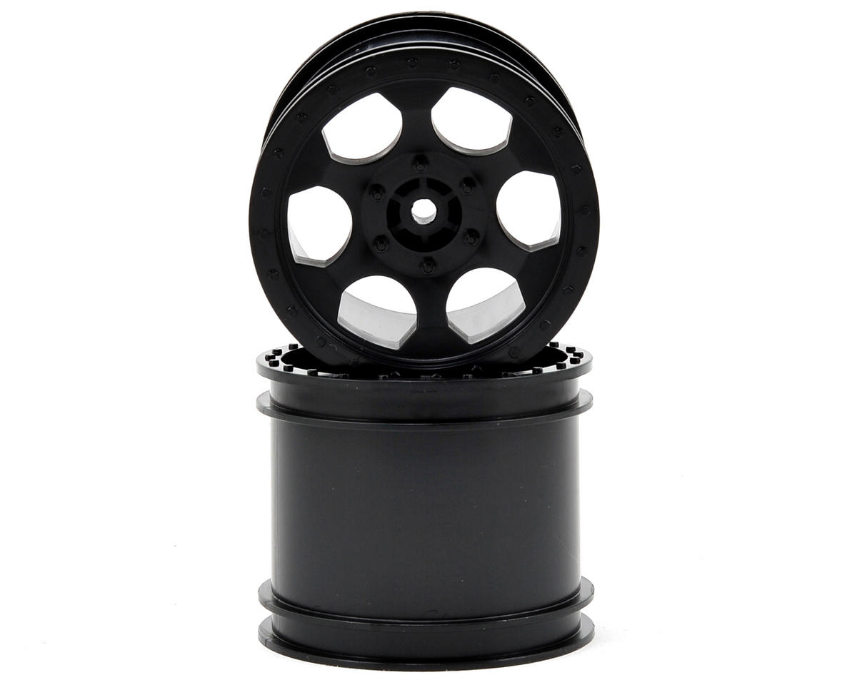 "DE Racing ""Trinidad"" 2.2"" 1/10 Stadium Truck Wheel (2) (TLR 22T) (Black)"