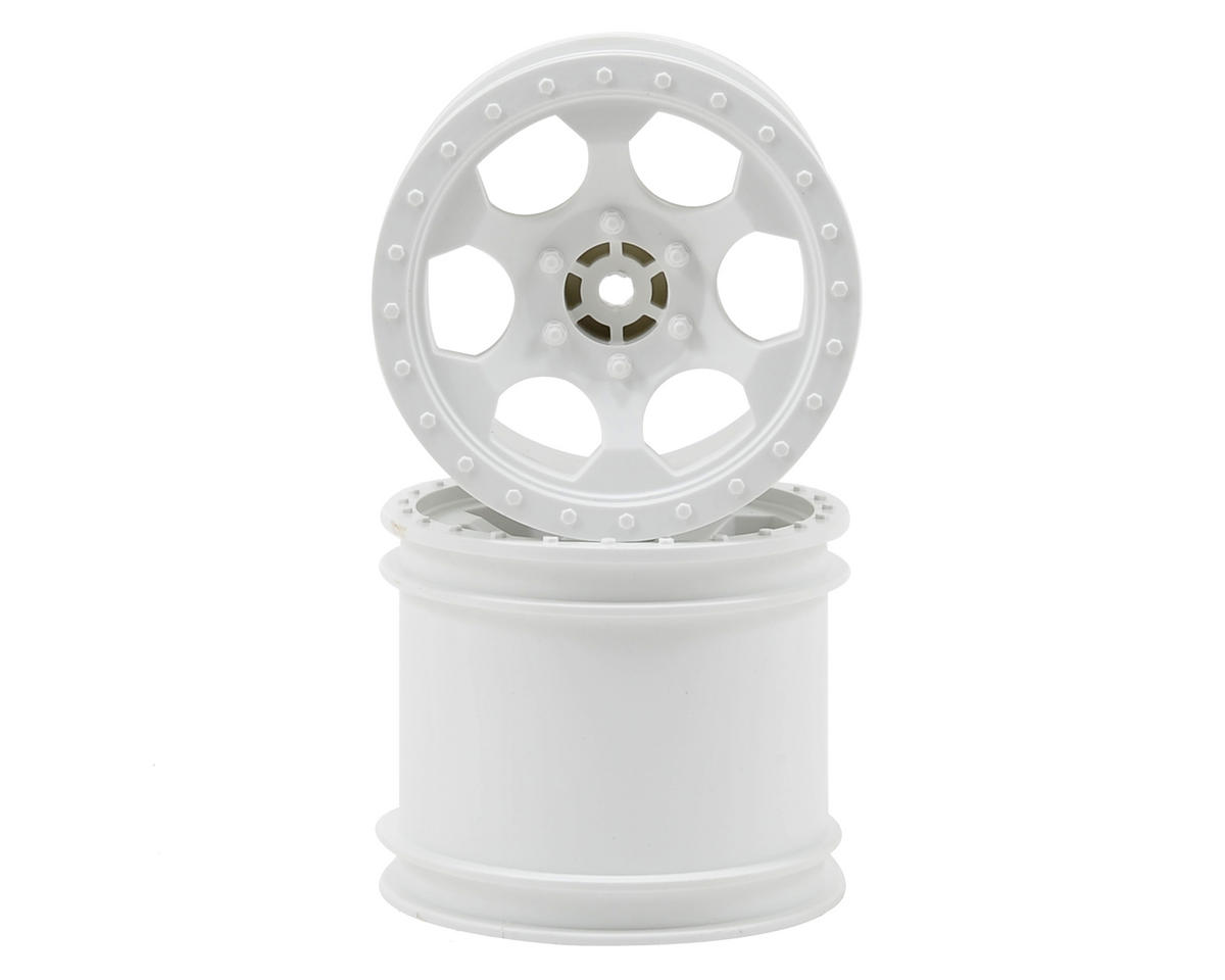 "DE Racing ""Trinidad"" 2.2"" 1/10 Stadium Truck Wheel (2) (TLR 22T) (White)"