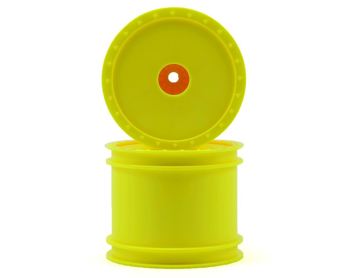 """12mm Hex """"Borrego"""" 2.2"""" 1/10 Stadium Truck Wheel (2) (T4) (Yellow) by DE Racing"""