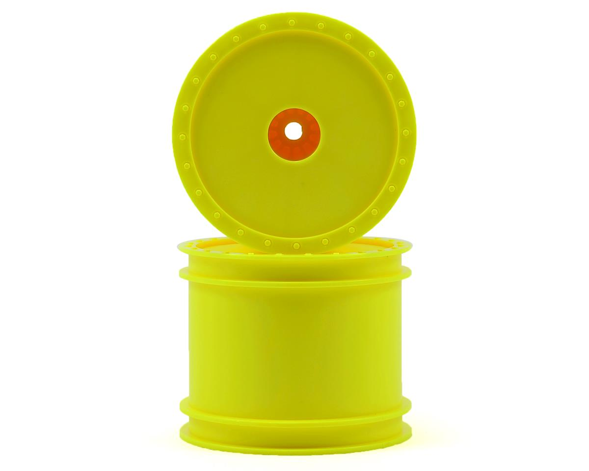 "DE Racing 12mm Hex ""Borrego"" 2.2"" 1/10 Stadium Truck Wheel (2) (T4) (Yellow)"
