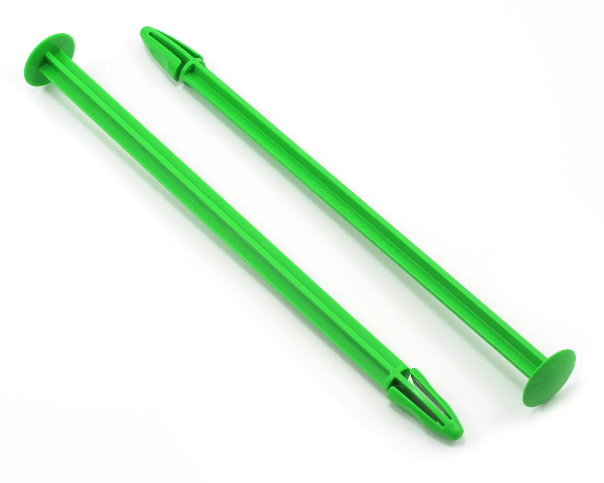 DE Racing Truggy Tire Spikes (Green) (2)