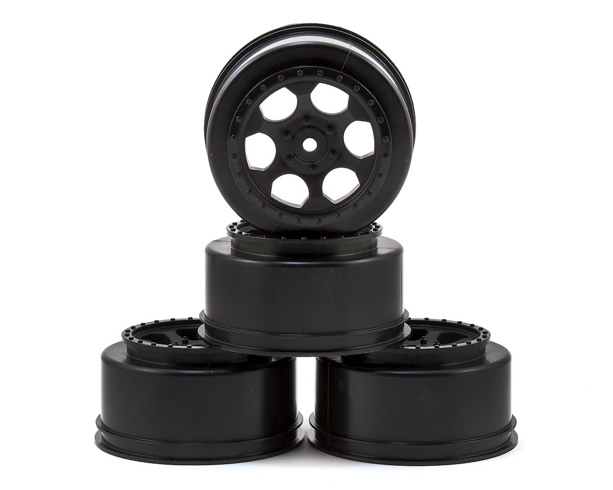 "12mm Hex ""Trinidad"" Short Course Wheels (Black) (4) (22SCT/TEN-SCTE) by DE Racing"
