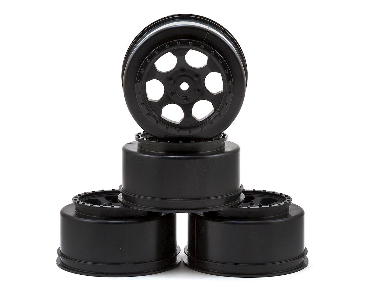 "Image 1 for DE Racing 12mm Hex ""Trinidad"" Short Course Wheels (Black) (4) (22SCT/TEN-SCTE)"