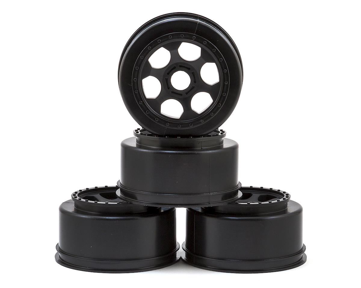 "17mm Hex ""Trinidad"" Short Course Wheels (Black) (4) (SC8/Senton) by DE Racing"
