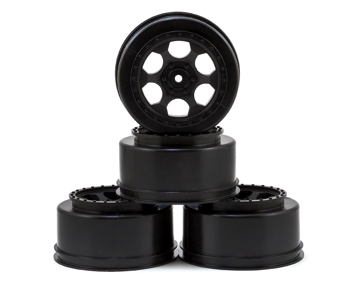 "DE Racing 12mm Hex ""Trinidad"" Short Course Wheels (Black) (4) (SC5M) (Team Associated SC10.2)"