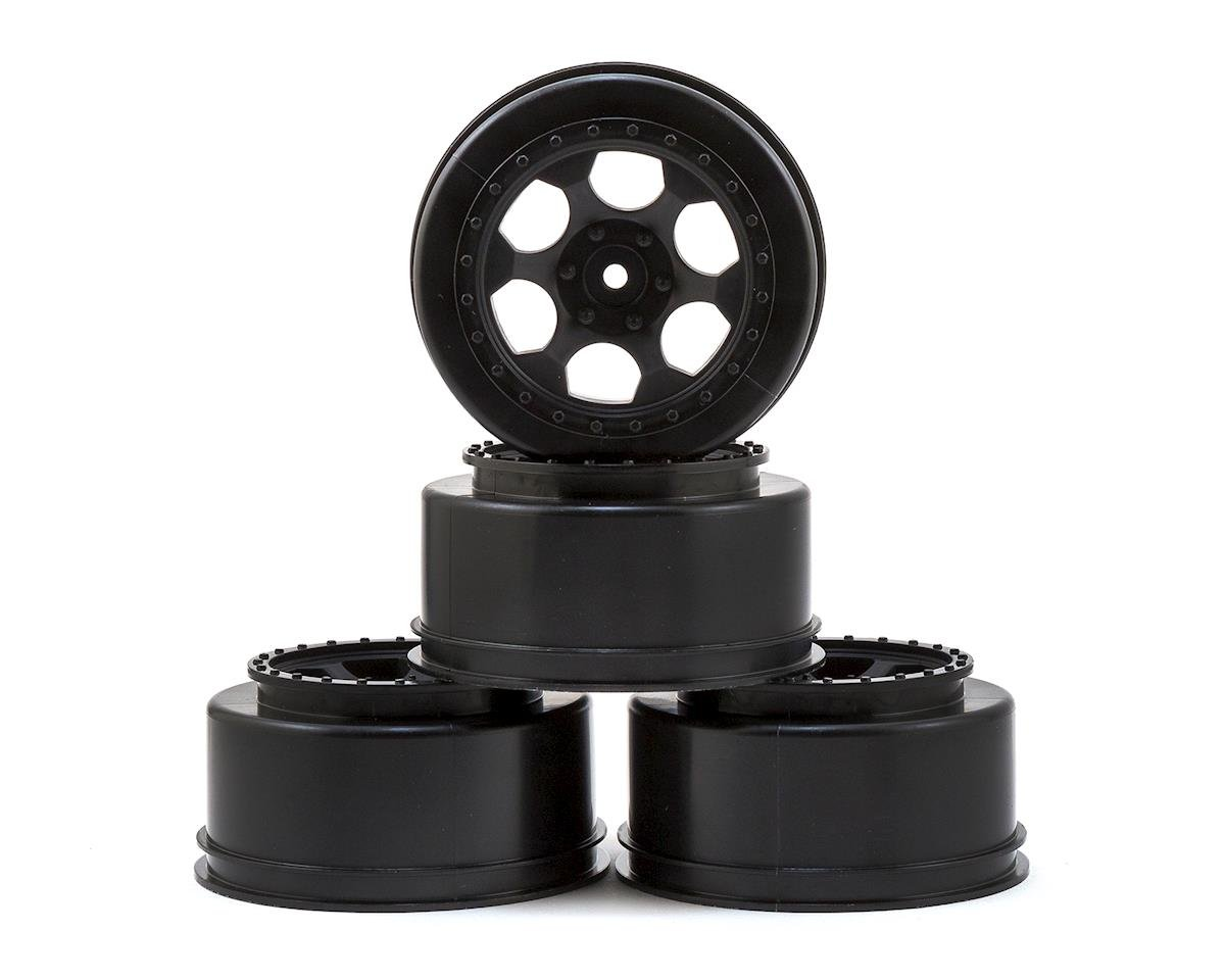 DE Racing Trinidad Short Course Wheels w/3mm Offset (Black) (4) (SC5M) (Team Associated SC10 4x4)