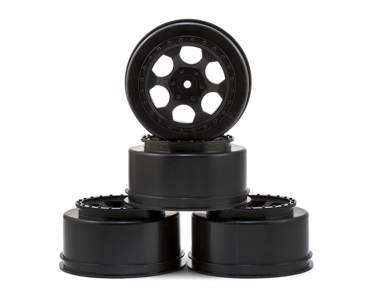 DE Racing Trinidad Short Course Wheels w/3mm Offset (Black) (4) (SC5M) (Team Associated SC10.2)