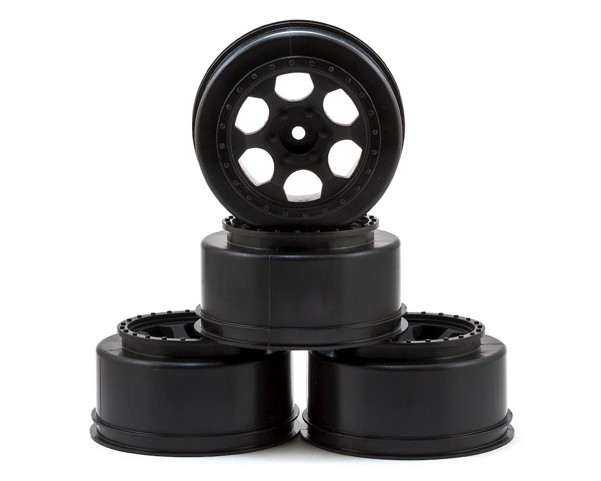 "12mm Hex ""Trinidad"" Short Course Wheels (Black) (4) (Slash Front) by DE Racing"