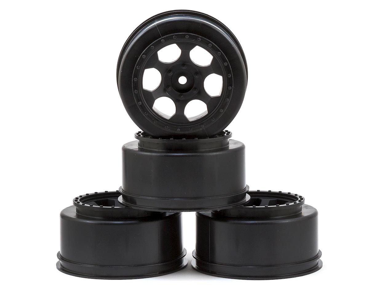 "DE Racing 12mm Hex ""Trinidad"" Short Course Wheels (Black) (4) (SC6/Slash/Blitz) (Traxxas Rally)"