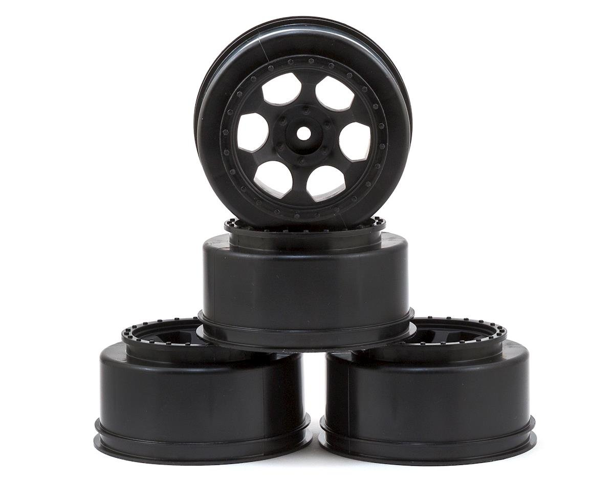 "DE Racing 12mm Hex ""Trinidad"" Short Course Wheels (Black) (4) (SC6/Slash/HPI Blitz)"