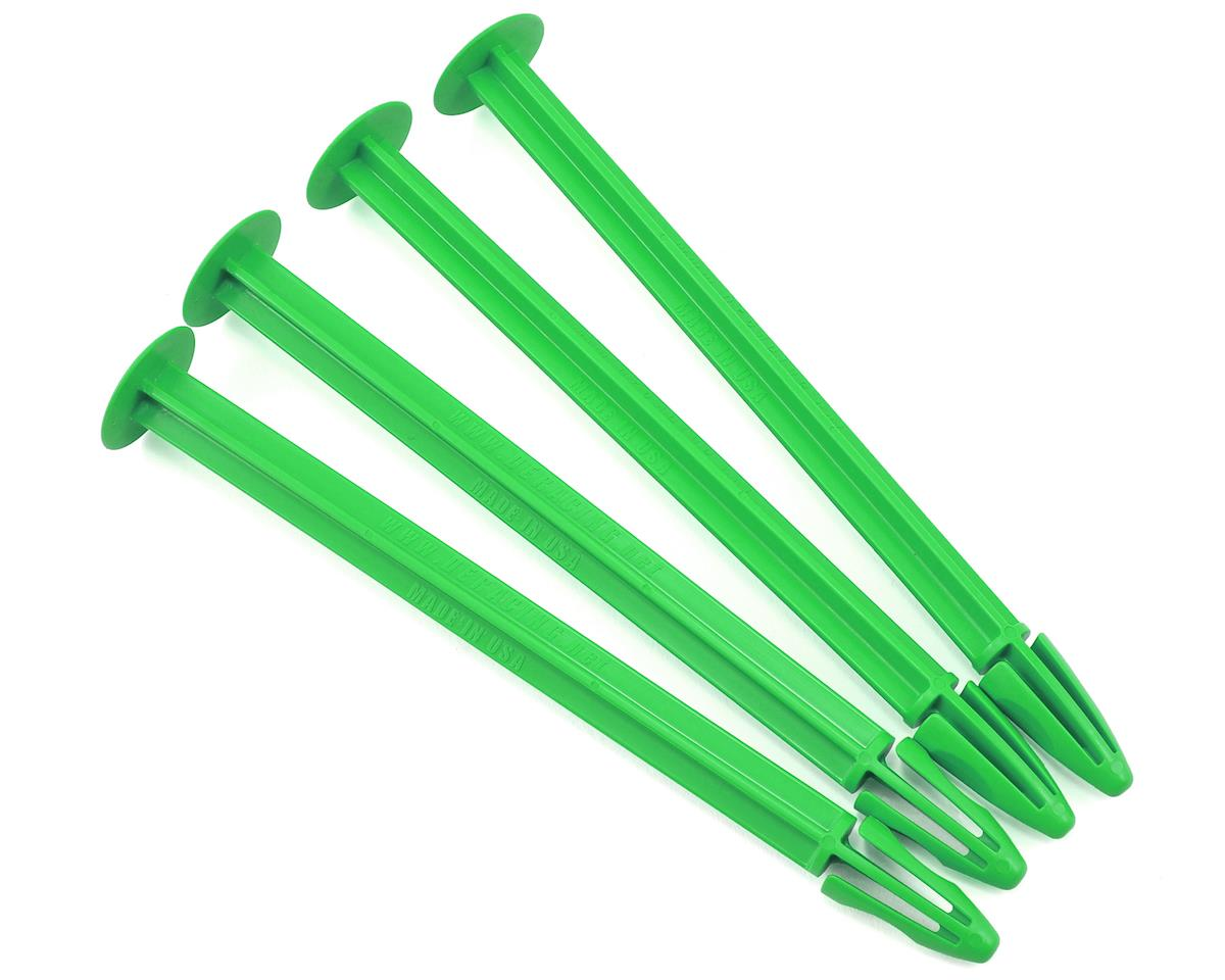 1/8 Buggy Tire Spikes (Green) (4) by DE Racing
