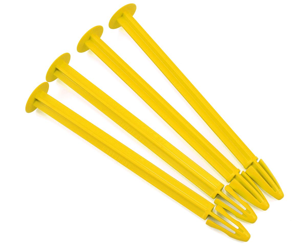 1/8 Buggy Tire Spikes (Yellow) (4) by DE Racing