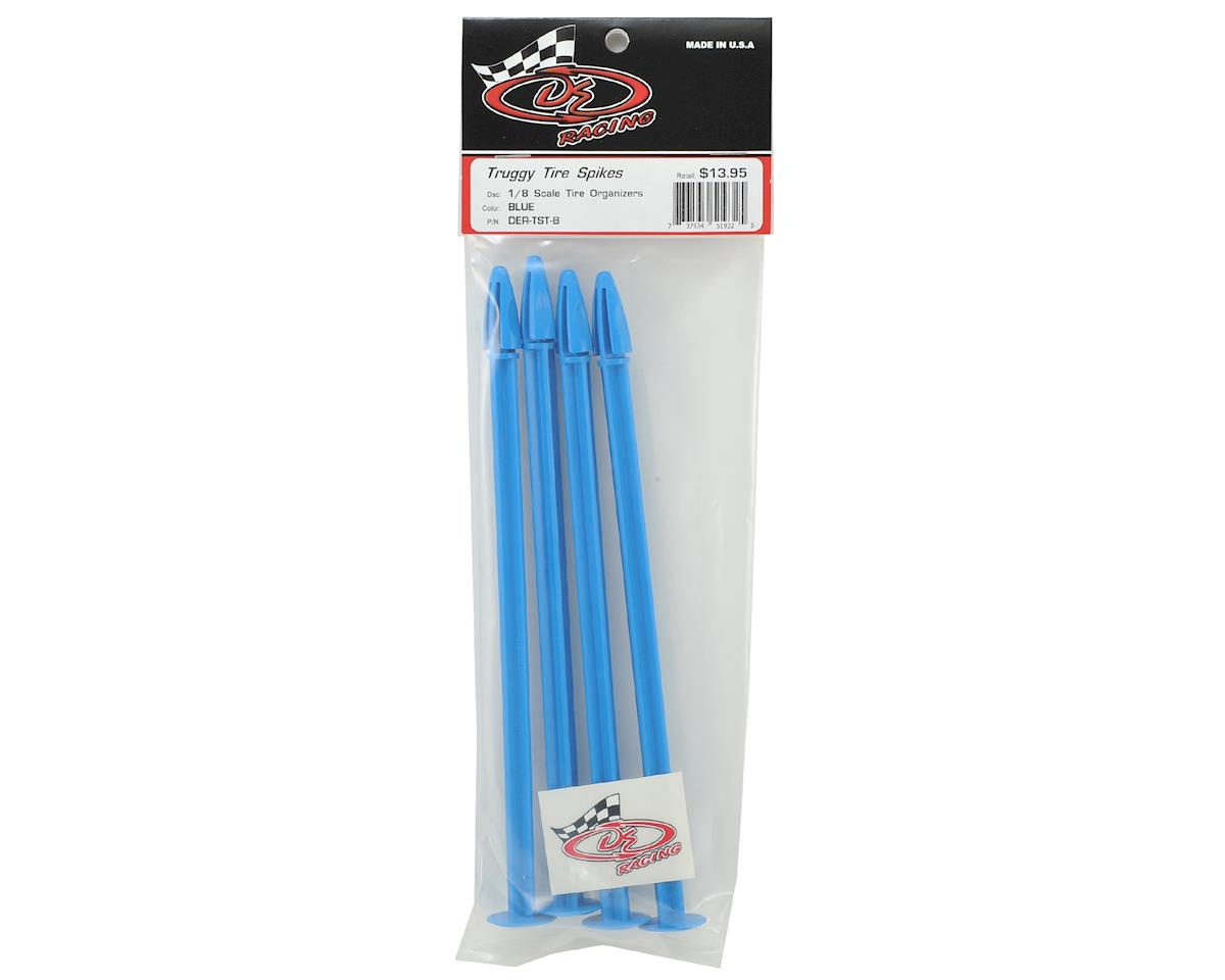 DE Racing Truggy Tire Spikes (Blue) (4)