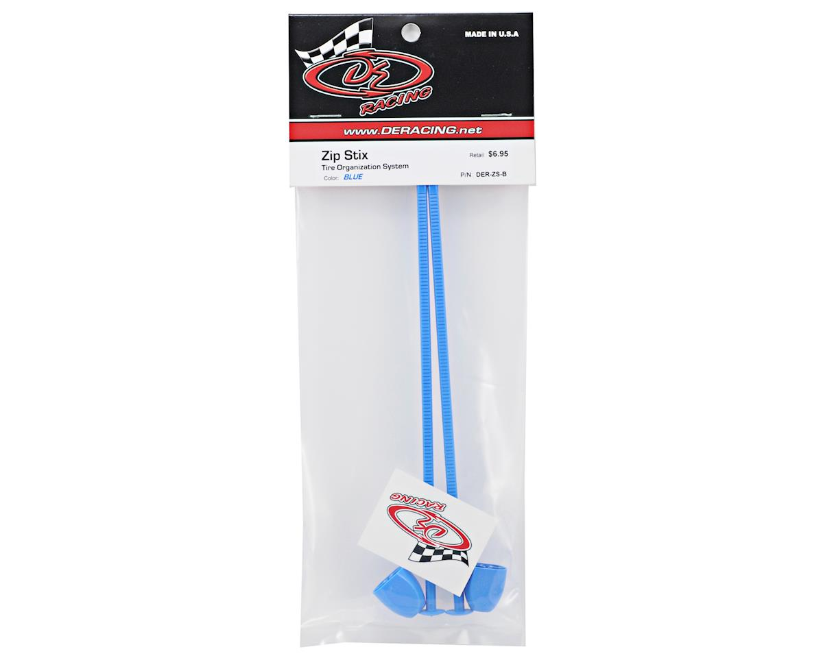 Zip Stix Tire Organizers (Blue) (2) by DE Racing
