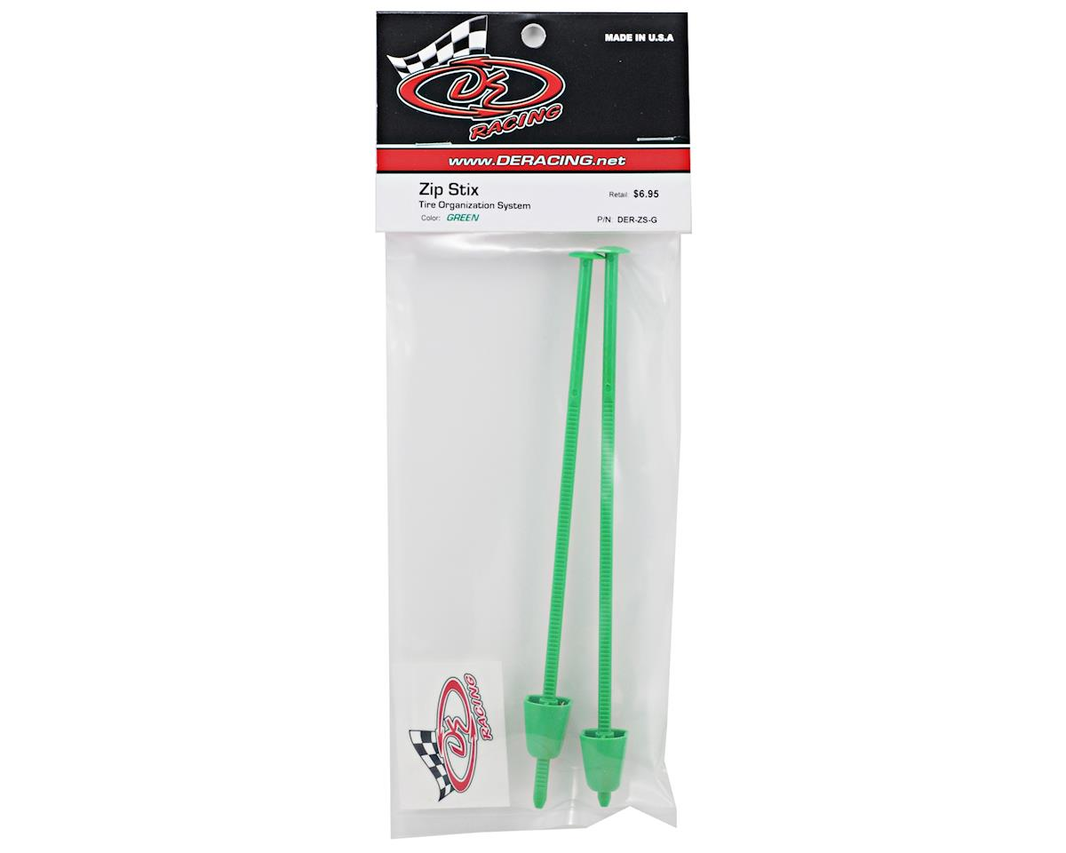 DE Racing Zip Stix Tire Organizers (Green) (2)