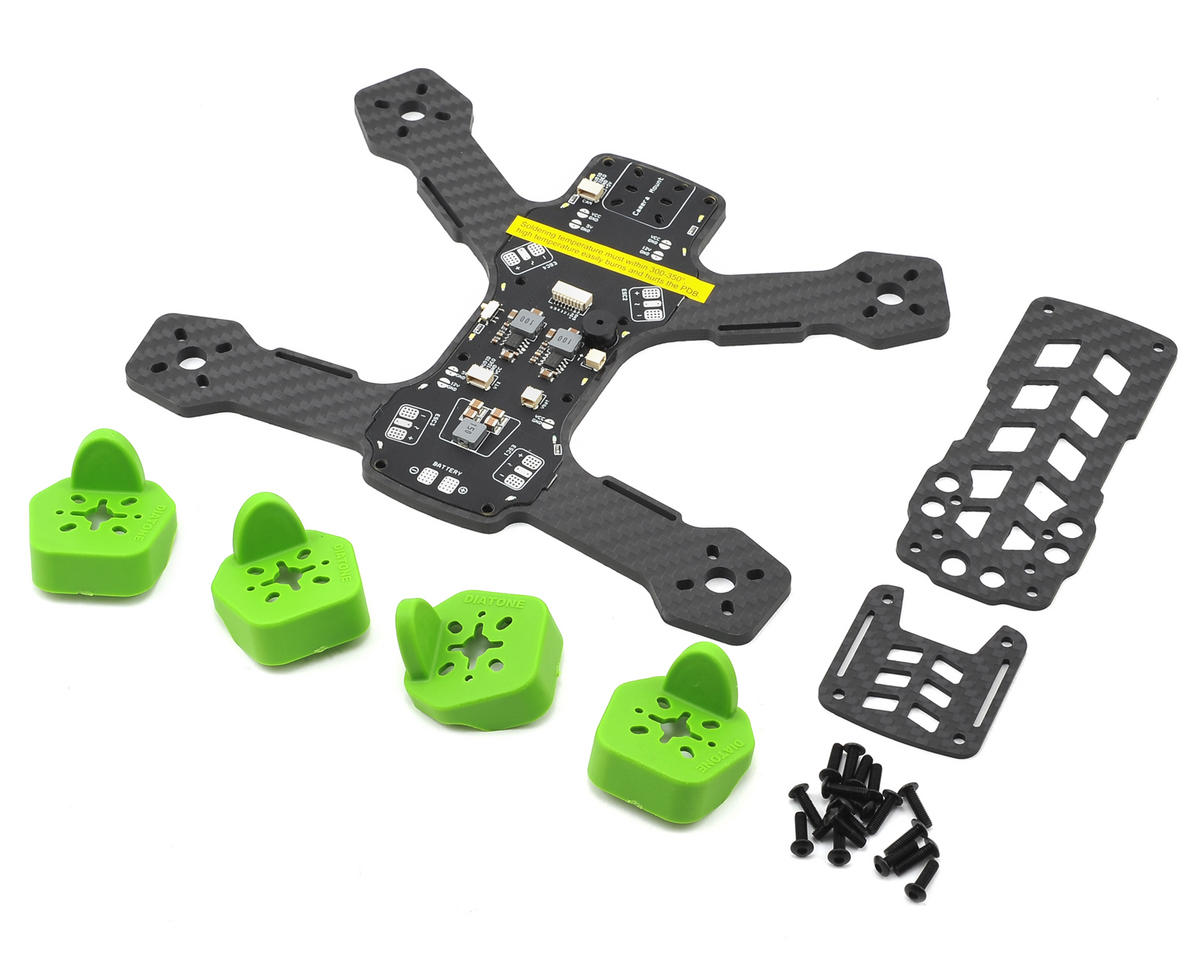 Tyrant 180 Carbon Fiber Frame Kit (Green) by Diatone