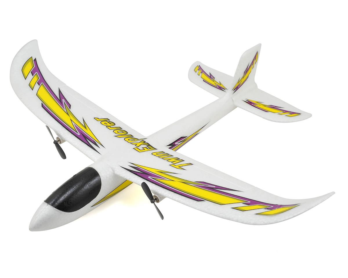 Twin Explorer RTF Twin Motor Electric Glider (480mm) by Dromida