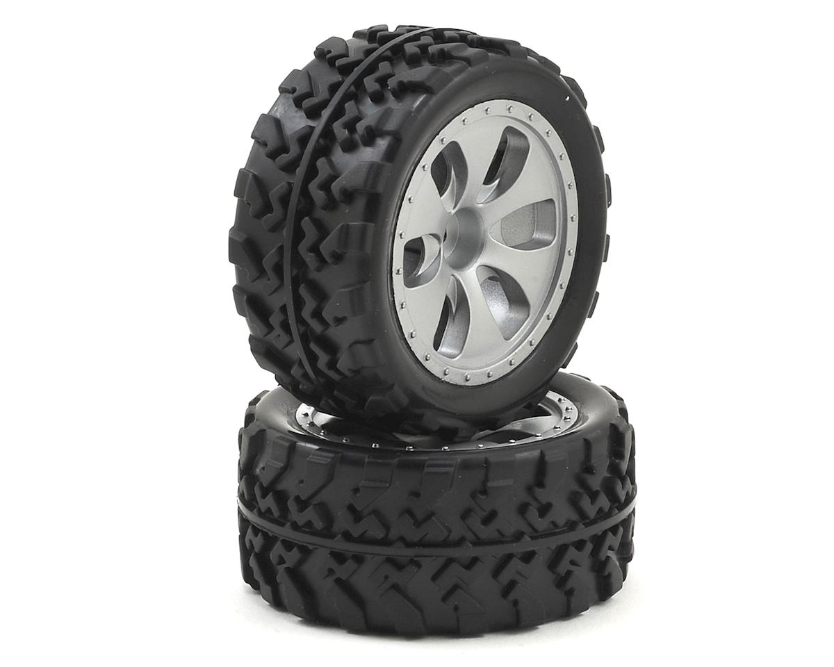 Pre-Mounted 1/18 Monster Truck Tire (2) by Dromida