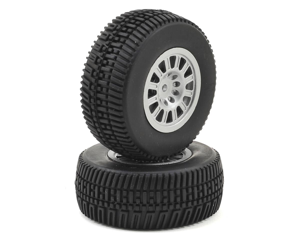 Pre-Mounted 1/18 Short Course Tire (2) by Dromida