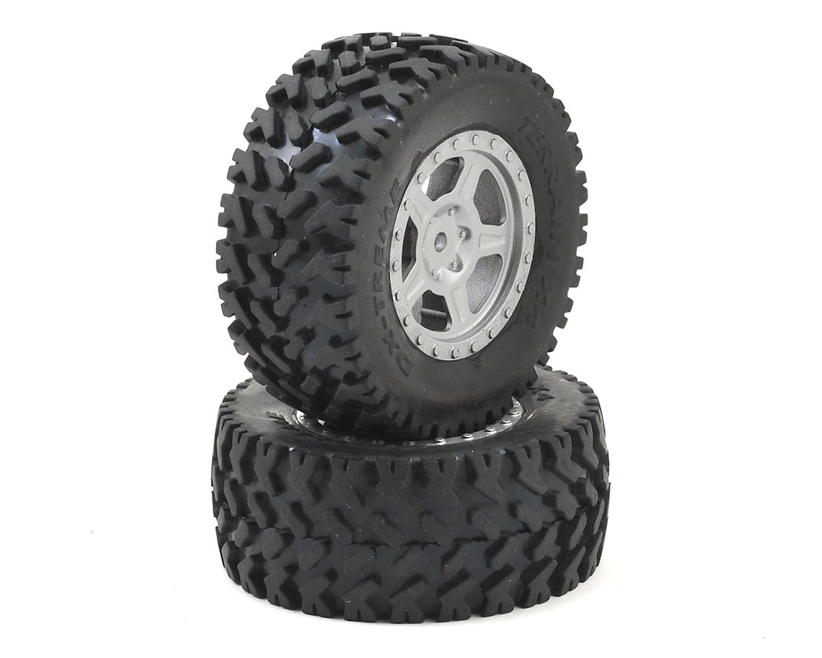 Pre-Mounted 1/18 Desert Truck Tire (2) by Dromida