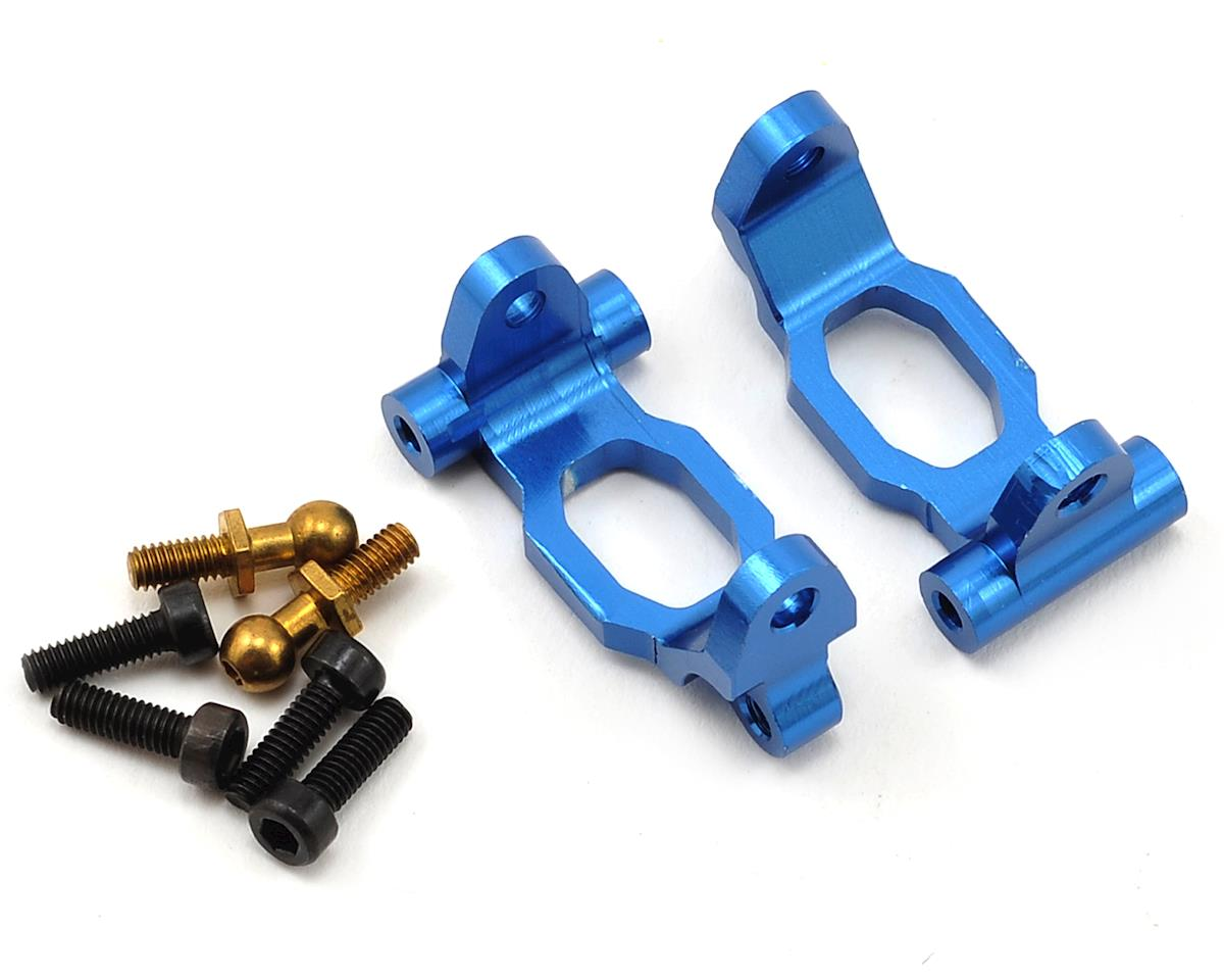 1/18 Aluminum Front Hub Carrier (Blue) (2) by Dromida