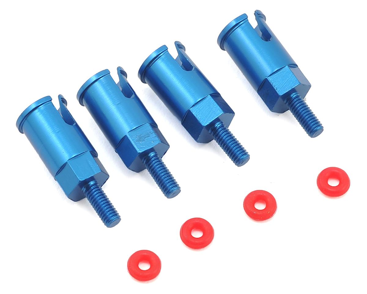1/18 Aluminum Axle Set (Blue) (4) by Dromida