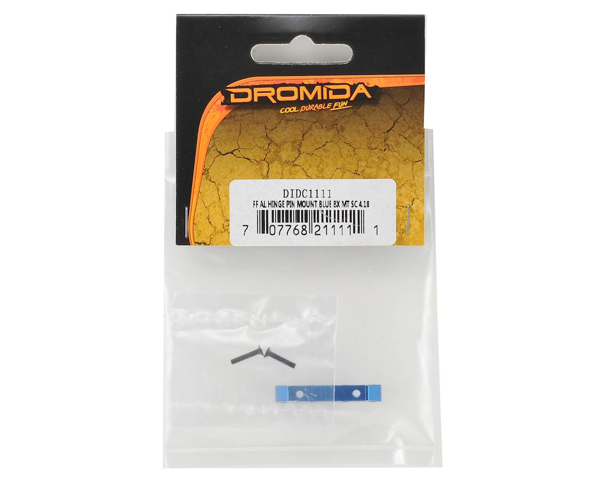 1/18 Aluminum Front-Front Hinge Pin Mount (Blue) by Dromida