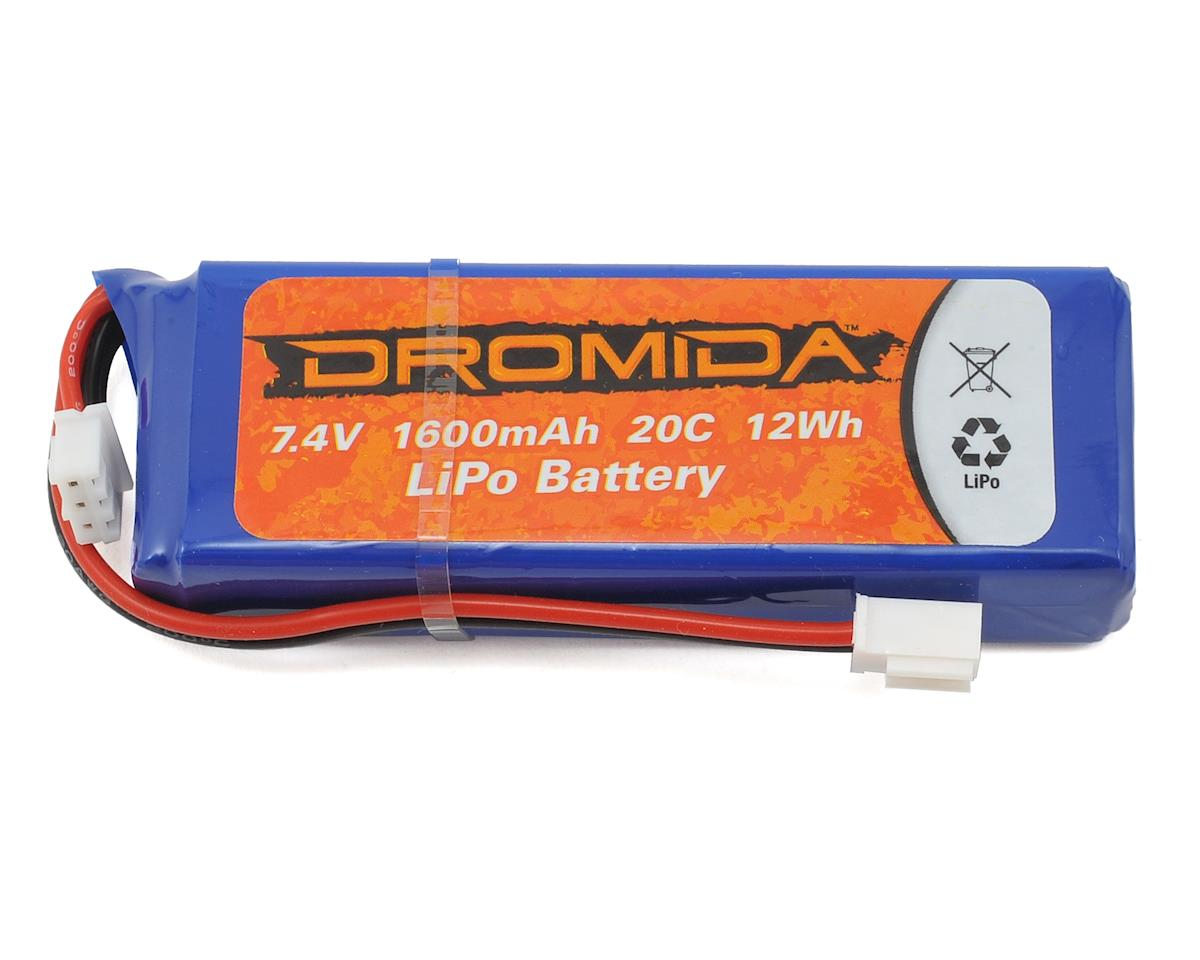 Dromida Monster Truck 4.18 BL 2S 1/18 20C LiPo Battery Pack w/Mini Plug (7.4V/1600mAh)