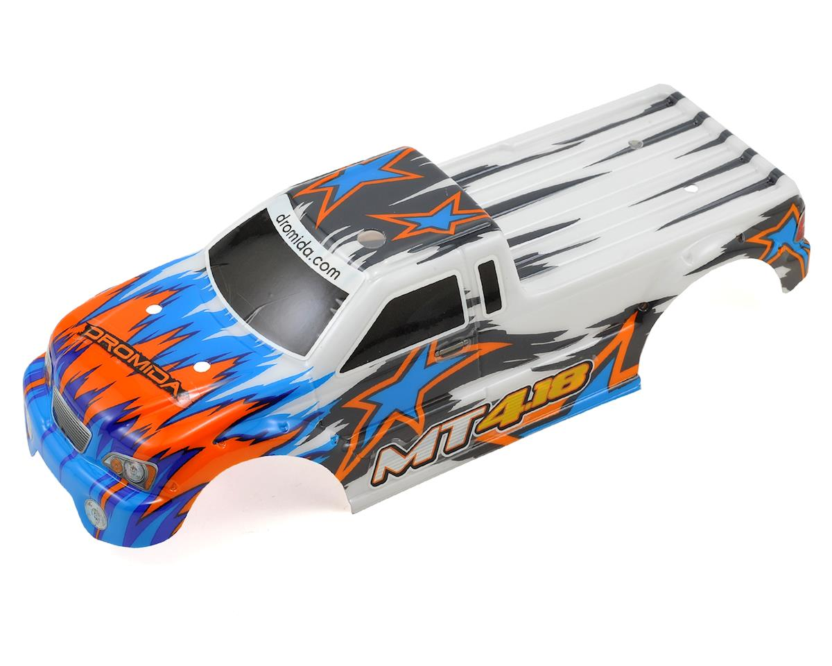 Dromida Pre-Painted MT4.18 Monster Truck Body w/Decals (White/Blue)