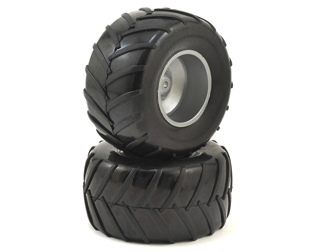 Pre-Mounted 1/18 Monster Truck Tires (2) by Dromida